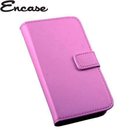 Encase Stand and Type Wiko Bloom Wallet Case - Pink