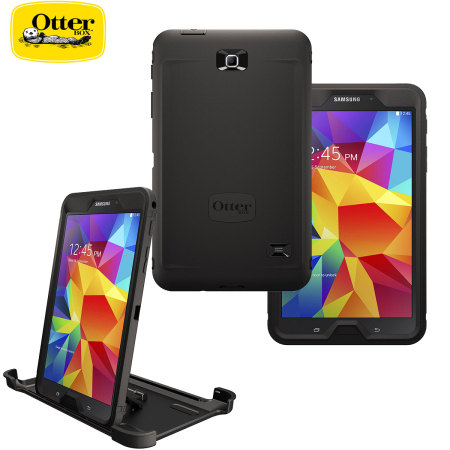 new styles 66e7a ef327 OtterBox Samsung Galaxy Tab 4 8.0 Defender Series Case - Black