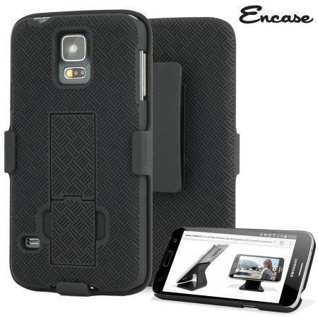 huge selection of cca48 88ae2 Encase Mesh Samsung Galaxy S5 Tough Case & Holster/Belt Clip - Black