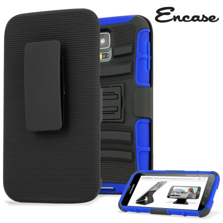 Encase ArmourDillo Pro Samsung Galaxy S5 Tough Case & Holster - Blue