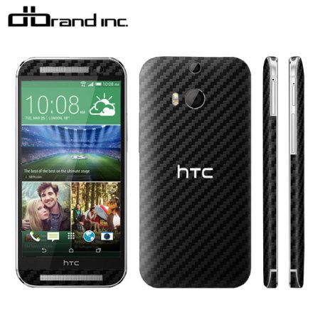 dbrand HTC One M8 Skin - Black Carbon Fibre