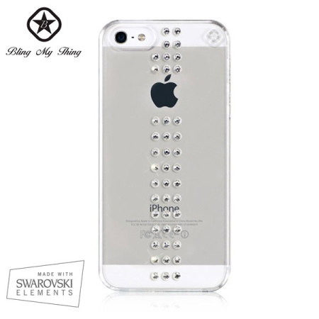 Bling My Thing Stripe iPhone 5S / 5 Case - Crystal
