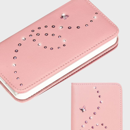 Bling My Thing Mystique Papillon iPhone SE Case - Pink