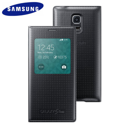 quality design 93cd0 599da Official Samsung Galaxy S5 Mini S-View Premium Cover - Dimpled Black