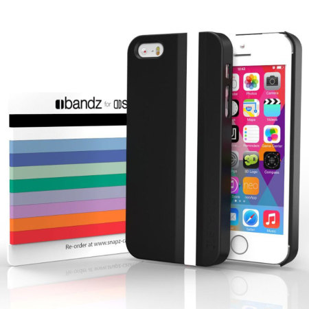 Snapz iPhone 5S/5 Case and Interchangeable Bandz - Cosmos Black