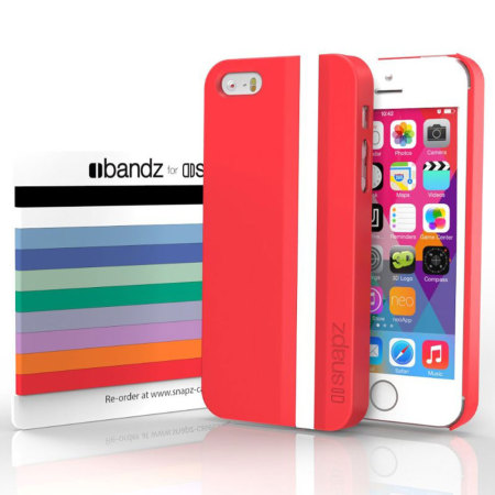 Snapz iPhone 5S/5 Case and Interchangeable Bandz - Jupiter Red