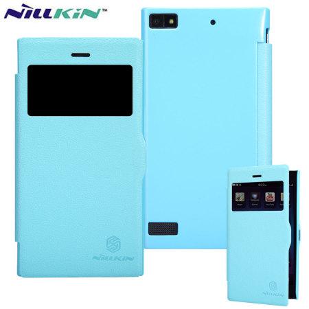 nillkin fresh faux leather blackberry z3 view case blue processor Exynos
