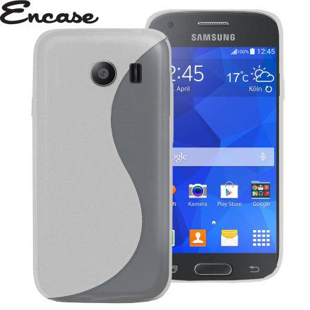 Encase FlexiShield Samsung Galaxy Ace Style Case - Frost White