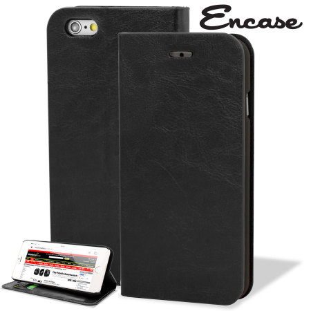 Encase Leather-Style iPhone 6 Plus Wallet Stand Case -  Black