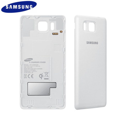 Official Samsung Galaxy Alpha Qi Wireless Charging Cover - White