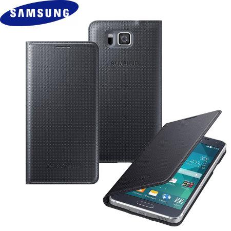 Official Samsung Galaxy Alpha Flip Cover - Black