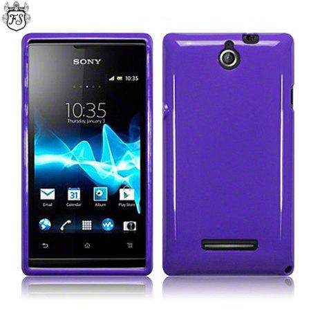 Flexishield Sony Xperia E Case - Purple