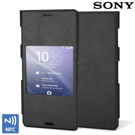 hot sale online 89157 cdecb Official Sony SCR24 Xperia Z3 Style Cover with Smart Window - Black
