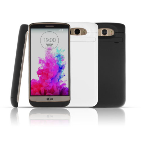 LG G3 Power Jacket Battery Case 3800mAh - White