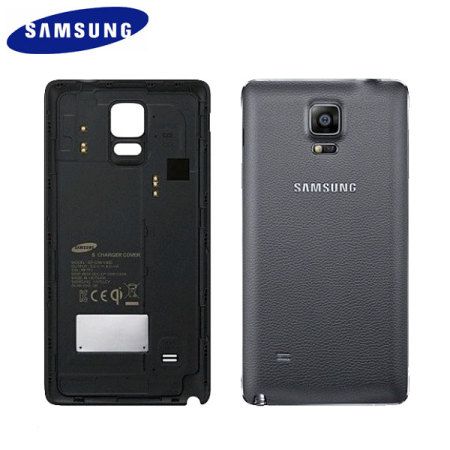 Official Samsung Galaxy Note 4 Qi Wireless Charging Cover - Noble Navy