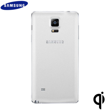 Official Samsung Galaxy Note 4 Qi Wireless Charging Cover - White