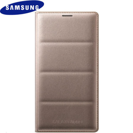 Official Samsung Galaxy Note 4 Flip Wallet Cover - Gold