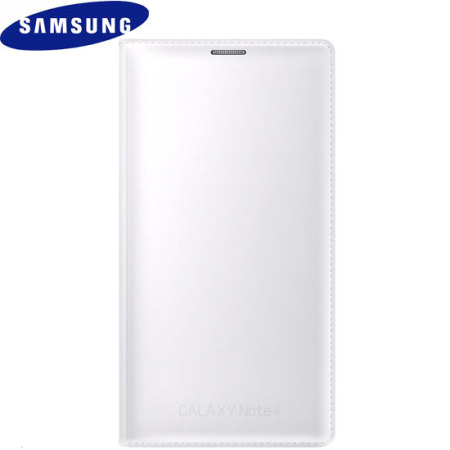 Official Samsung Galaxy Note 4 Flip Wallet Cover - Smooth White