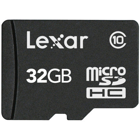 Lexar 32GB Micro SDHC Memory Card and SD Adapter - Class 10