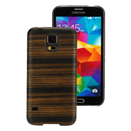 Man&Wood Samsung Galaxy S5 Wooden Case - Ebony