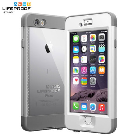detailed look aaf59 e13d7 LifeProof Nuud iPhone 6 Plus Case - White / Grey