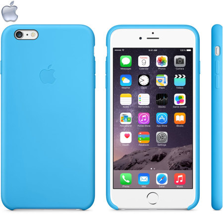 save off a734e a6934 Official Apple iPhone 6 Plus Silicone Case - Blue