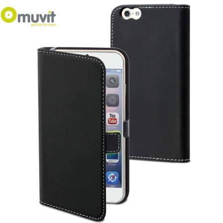 huge selection of ba9ef c49af Muvit Slim Folio iPhone 6 Plus Case - Black