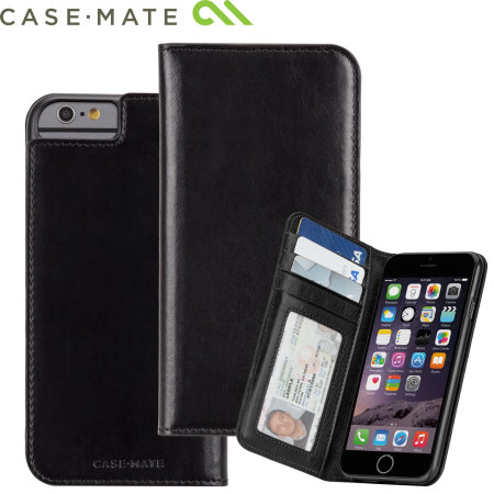 check out 5a2c0 646fd Case-Mate Leather Wallet Folio iPhone 6S / 6 Case - Black