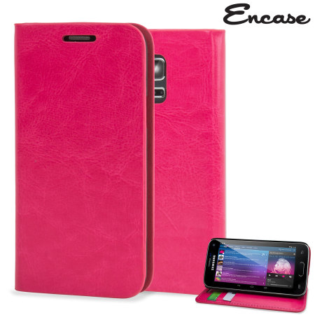 Encase Leather-Style Samsung Galaxy S5 Mini Wallet Case - Pink