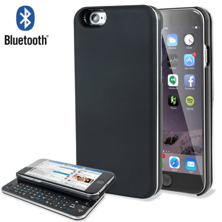 pretty nice 8fa4e 35ecb Ultra-Thin Bluetooth Wireless Sliding iPhone 6 Keyboard Case - Black