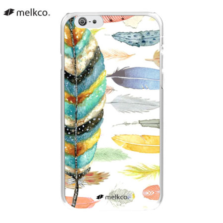 Melkco Graphic iPhone 6 Designer Shell Case - Feather