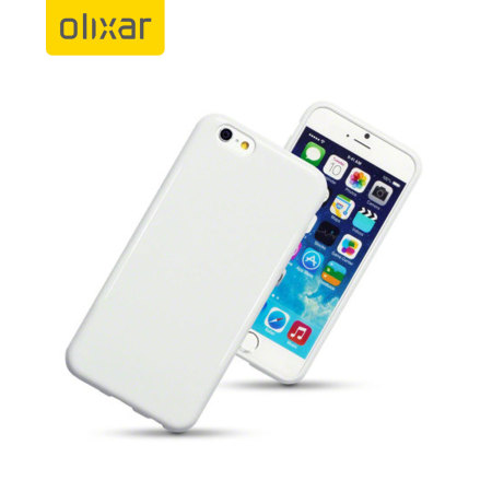Olixar FlexiShield iPhone 6S / 6 Case - Solid White