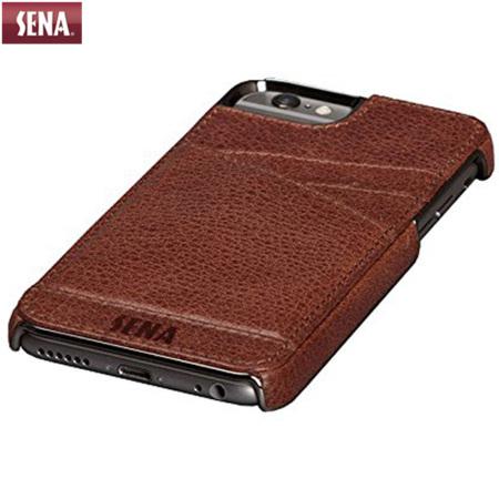 promo code 76069 c6a4c Sena Lugano Genuine Leather iPhone 6 Wallet Case - Cognac