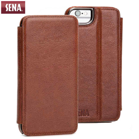 size 40 d78ed c20d1 Sena Heritage Genuine Leather iPhone 6 Wallet Book - Congac