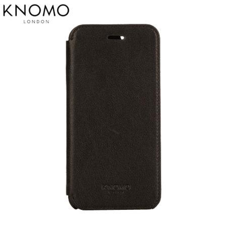 new concept c7c31 0e3a7 Knomo Leather Folio iPhone 6S / 6 Wallet Case - Black