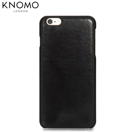 super popular e9c98 d2c7d Knomo Leather Snap-on iPhone 6S Plus / 6 Plus Case - Black