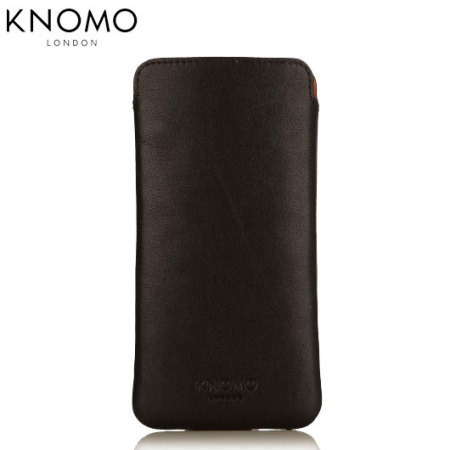 info for dfa80 6eb99 Knomo Slim Sleeve iPhone 6S / 6 Leather Pouch - Black