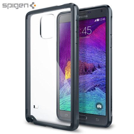 official photos 3553b 09368 Spigen Ultra Hybrid Samsung Galaxy Note 4 Bumper Case - Metal Slate