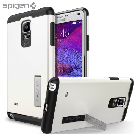 Spigen Slim Armor Samsung Galaxy Note 4 Tough Case - Shimmery White