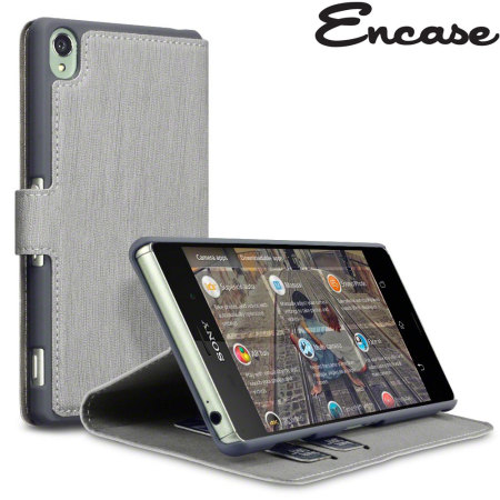 Encase Leather-Style Slim Sony Xperia Z3 Wallet Case - Grey