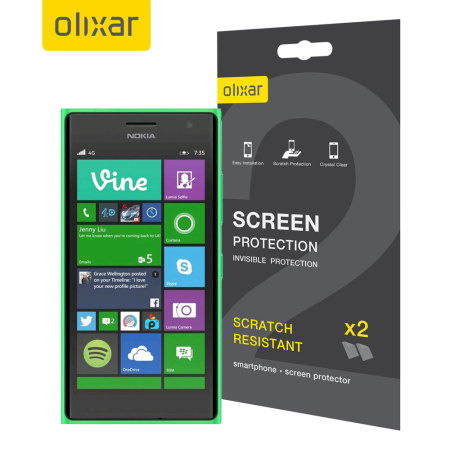 Olixar Nokia Lumia 735 Screen Protector 2-in-1 Pack