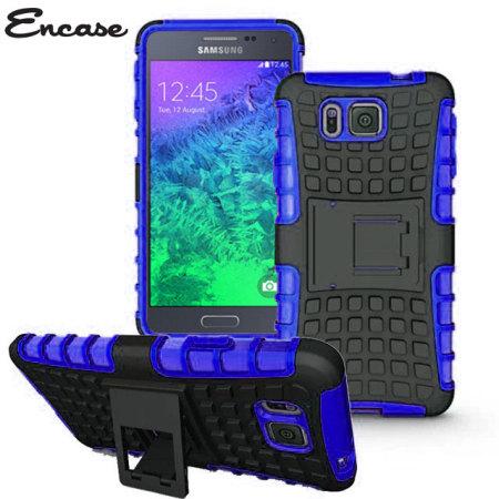 Encase ArmourDillo Hybrid Samsung Galaxy Alpha Protective Case - Blue