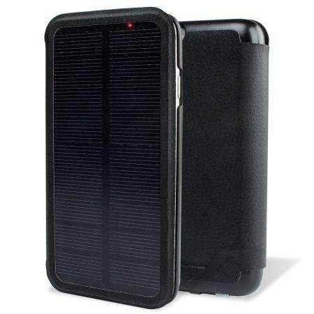 enCharge Solar iPhone 6S / 6 Battery Flip Case 2,800mAh - Black
