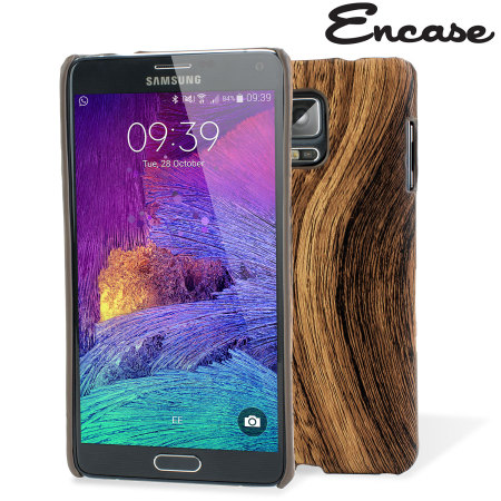 Encase Wood Patterned Back Samsung Galaxy Note 4 Case