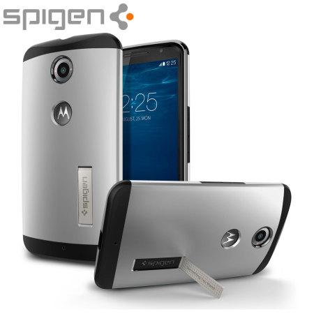 Spigen Slim Armor Google Nexus 6 Tough Case - Satin Silver