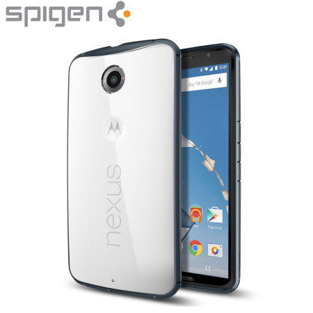 Spigen Ultra Hybrid Google Nexus 6 Case - Metal Slate