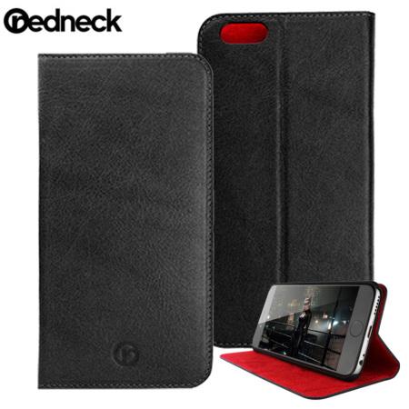 Redneck Red Line iPhone 6S Plus / 6 Plus Genuine Leather Case - Black