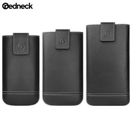 Redneck Genuine Leather Universal Smartphone Pouch M - Black