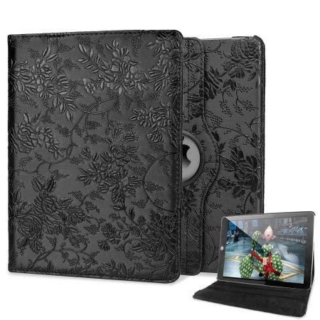 Encase Flower iPad Air 2 Case - Black
