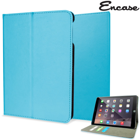 Encase Stand and Type iPad Air 2 Case - Light Blue